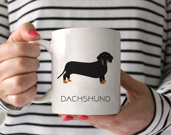Dachshund Coffee Mug - Dachshund Ceramic Mug  - Dog Mug - Gift for Coffee Lovers - Dachshund Lover Gift - Doxie Mug - Weiner Dog Mug