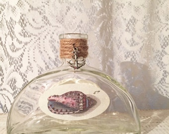 Nautical, Glass Bottle, Wedding, Beach Wedding Vase, Nautical Bathroom, Tying the Knot, Altered Bottle Vase, Seashell Vase, PRICE PER BOTTLE