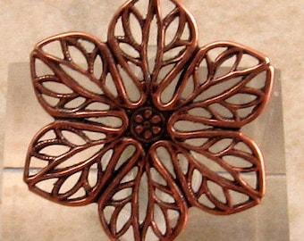 Filigree Connector, Antique Copper, Tabitha, Trinity Brass, 2 Pieces, AC155