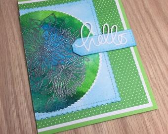 Hello - Handmade Notecard