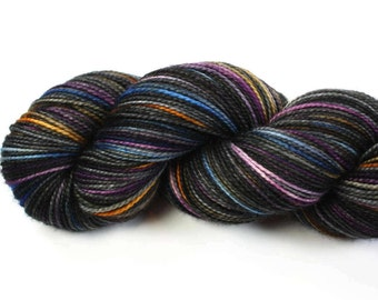 Neptune--hand dyed sock weight yarn, 2 ply merino, cashmere, nylon (400yds/100gm)