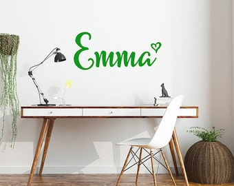 Monogram Decal, Monogram Vinyl decal, Monogram Wall Decal, Office Wall Decor, Kids Name Decal, Custom Name Decal, Custom Decals, Sticker