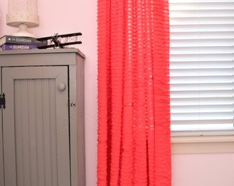Coral curtain sheers