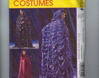 Misses Sewing Pattern McCalls M4642 4642 Misses Costume Loose Fitting Cape with Hood Variations and Ruching Size 4 6 8 10 12 14 UNCUT
