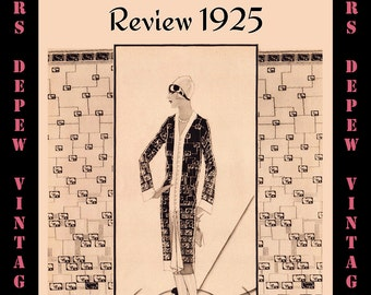 Vintage Sewing Pattern Booklet McCall Buyer's Yardgoods Review 1925 PDF Digital Copy -INSTANT DOWNLOAD-