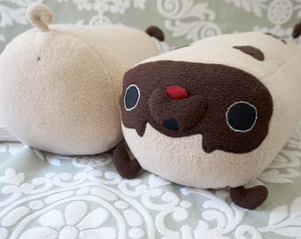 Pug Pillow - plush