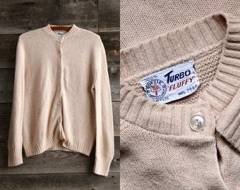 SALE Turbo Fluffy Vintage Cardigan Sweater