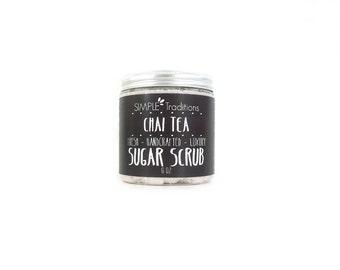 Sugar Scrub | Exfoliating Soap | Chai Tea | Shaving Soap | Dry Skin | Exfoliate | Body Scrub | 8 oz | Whipped Soap Scrub | Exfoliate | Women
