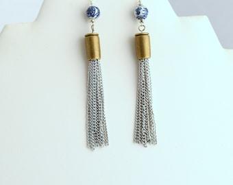 Bead & Tassle Earrings