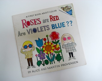 Roses are Red, are Violets Blue? - children's book of colors - 1973