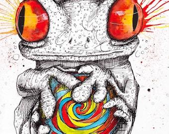 Psychedelic Frog Etsy