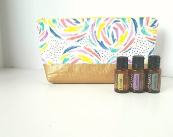 Essential Oil Pouch, Oily Pouch, Essential Oil Storage - Brush Strokes