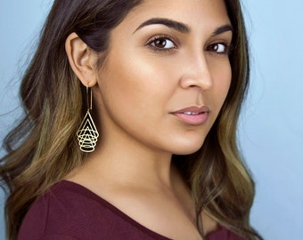 Overlapping Cones Earrings | ATL-E-204