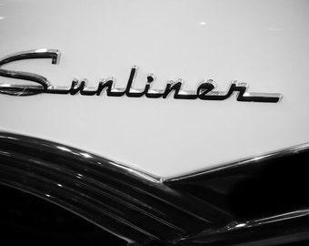 Ford Fairlane Sunliner Lettering Car Photography, Automotive, Auto Dealer, Classic, Car, Mechanic, Boys Room, Garage, Dealership Art