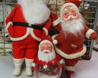 Vintage SANTA in Red Suit- Instant Santa Collection- Retro Kitsch Santa Claus- Nostalgic Holiday Decor- H10