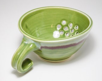 Berry Bowl Sink - Drainer Dish - Pottery Colander - Colander - Strainer - Berry Colander - Ceramic Strainer - Berry Basket Clay - In Stock