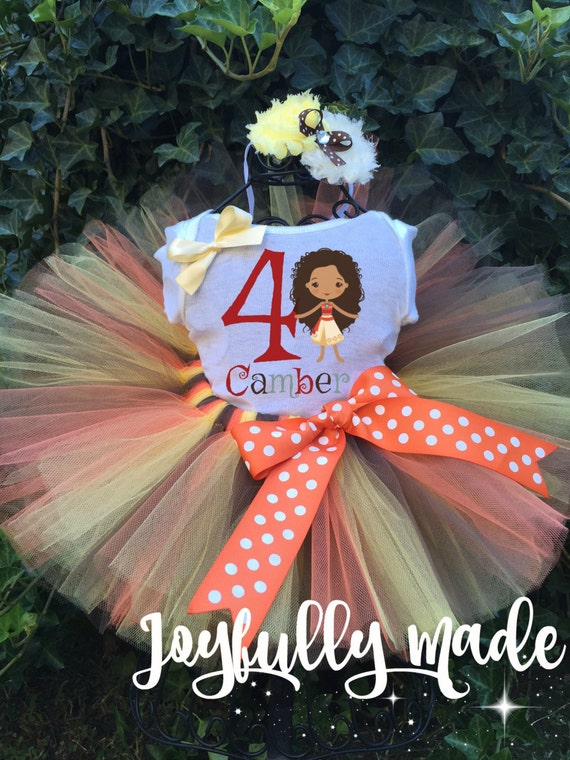 Disney Moana Personalized Tutu Set