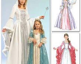 McCalls 5731 Womens Renaissance Gown Pattern Princess Pattern Queen Costume SCA Garb Uncut Pattern Womens Size S M L XL