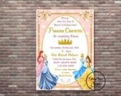 Princess Birthday Party, Princess Birthday Invitation, DIY Printable, YOU PRINT, Disney Princess Birthday Invitation, Princess Invite