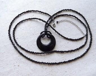 Extra Long Black Necklace (Item Z 18)