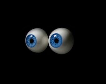 """SALE - 16mm bjd eyes """"Denim Blue"""", Bjd eyes, Doll eyes, Doll eye, Blue eyes, Handmade eyes, Urethane eyes, Resin eyes, Fantasy eyes"""