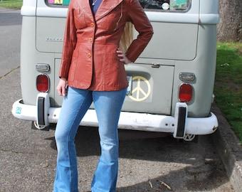 Vintage Women's Leather Jacket Leather Blazer