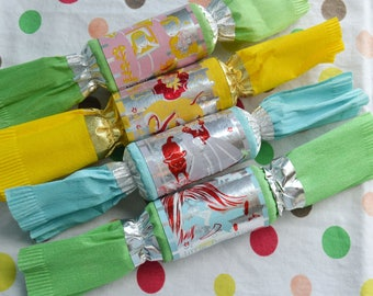 Vintage Crepe Paper Nursery Rhyme Birthday Party Crackers Favors