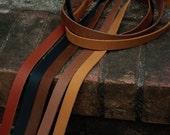 "Brown black Leather Strap, leather Strip- purse strap, belt blank 3/4"" wide leather. 30, 45, 60, 72, 80 inch long, make a belt, or bracelet!"