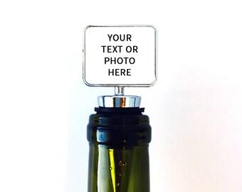 Wine Stopper, Custom Bottle Stopper, Wine Gifts, Gifts for Wine Lovers, Personalized Wine Stopper Wedding Favor, Wine Bottle Stopper
