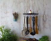 Utensil Organizer, Rack, Hanging, Wire, Herb Dryer