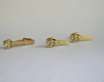 Vintage Goldtone Wrench Set Cuff Links and Tie Clip