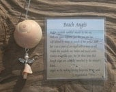 Angel ornament and poem- Seashell angel- Sea shell angel- Beach ornament- Seashell ornament- Beach angel- Broken shell angel