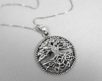 Tree of Life Necklace, Gift for Grandmother, Sterling Silver Tree of Life Necklace, Grandmother Gift, Gift for Nana, Gift For Mom
