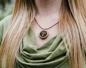 Wooden Tree Pendant - Sustainable Wood Jewelry- Oregon Myrtlewood Tree Earrings- Natural Wood Jewelry- Eco Earrings