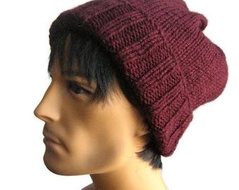 Knit Hat, Watchman Cap Slouchy Hat, The Alex Hat, Vegan Knits, Mens Fisherman Hat, Knitwear, Mens Slouchy Beanie, Mens Knit Hat