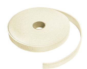 "Low Density Industrial Wool Felt Strips - Natural White, SAE F10 Grade, 1/2"" to 3"" Widths, 1/8"" to 1"" Thicknesses"