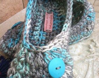 Women's Crochet Slippers, Crochet Slippers, Blue Slippers, House Shoes, Crochet Booties, Slippers, Foot Wear