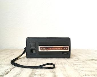 Vintage Kodak Instamatic Camera, Tele-Instamatic 608, 110 Film Camera