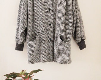 80's Oversized Cocoon Coat