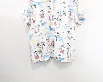 90's Island Button Up