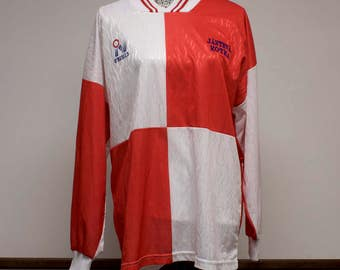 Vintage O'Neills Soccer Jersey size Large no 23 long sleeve red and white