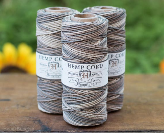 Hemp Macrame cord,  Earthy, 205 Feet, 1mm,   Jewelry Cord, Craft  Cord -T35