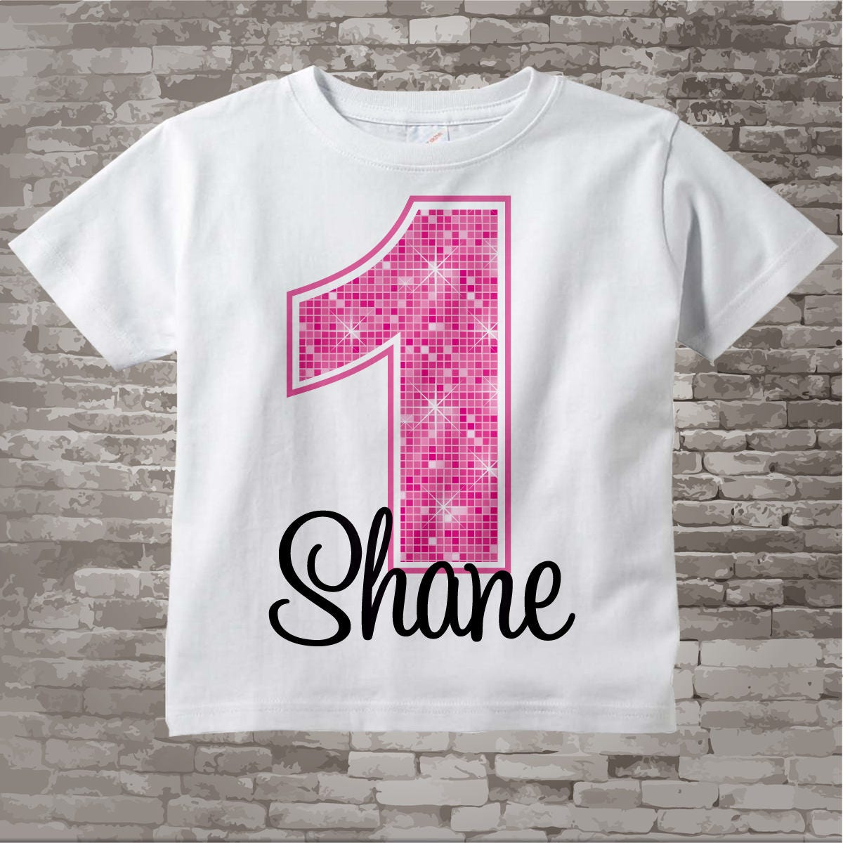 First Birthday Onesie Pink 1st Birthday Shirt Personalized