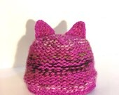 Pink Pussy Hat, Pussyears Pink Hat, Pink Wool Hat with Cat ears, hot pink Hat,  Pussycat Hat in mixed Pink, womens march