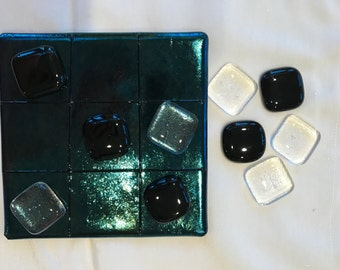 Fused Glass Tic Tac Toe Boards