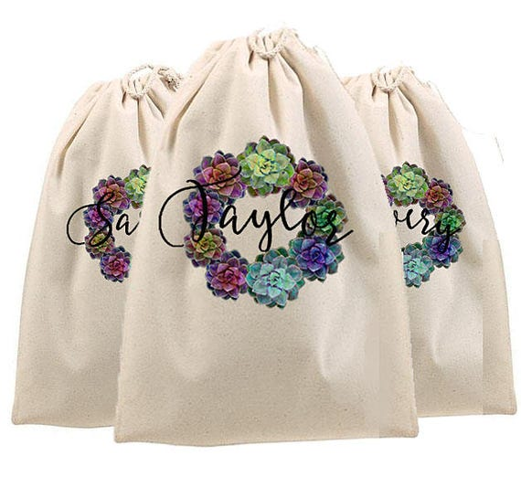 Shoe Bags, Personalized shoe bag, monogrammed shoe bag, canvas drawstring bag, Golf shoe bag, bridesmaid gift bags, bride tribe bags, travel