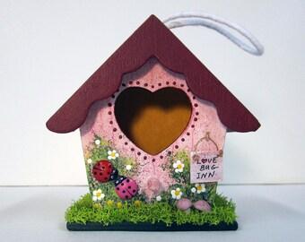 Love Bug Mini Birdhouse
