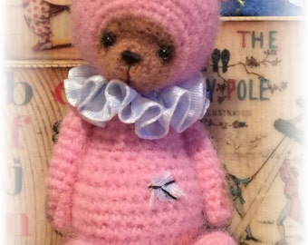 Miniature Thread Artist Crochet Teddy Bear PATTERN for Maggie by Joanne Noel of  Bayou Bears