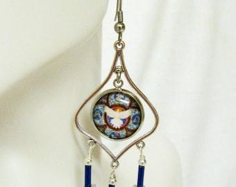 Holy spirit chandelier earrings - E0160-009