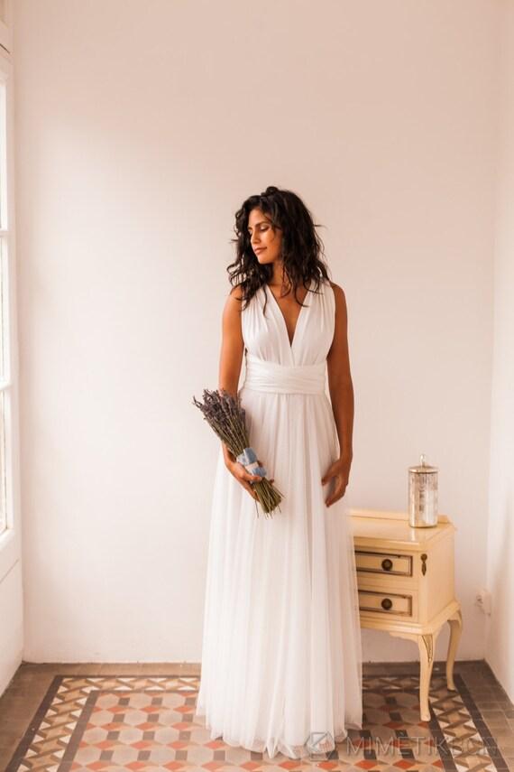 Swiss dot removable tulle skirt for wedding dress swiss by for Dotted swiss wedding dress